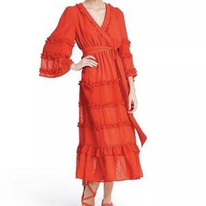 Alexis x Target Angel Sleeve Tired Ruffle Dress